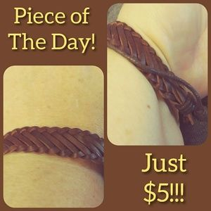 Piece of the Day! Brown Leather Bracelet